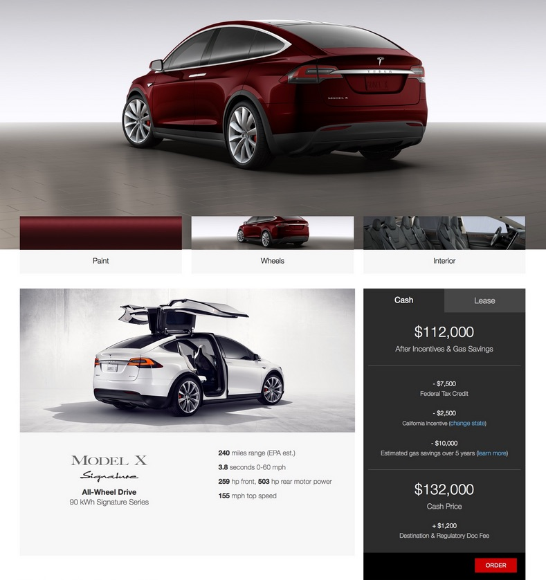 Tesla Model X starting price might be $40k less than reported