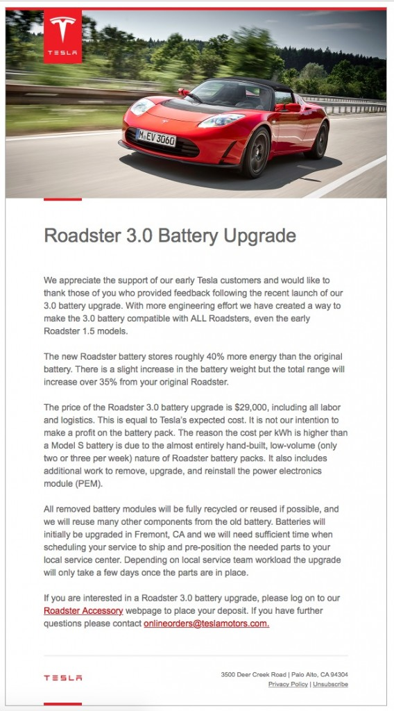 LG Chem to be supplier for Tesla Roadster 3.0 Upgrade