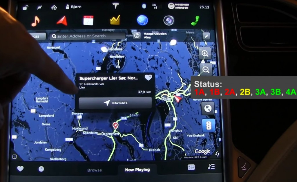 Suggestion for Tesla Firmware 6.1 - real-time Supercharger update