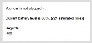 Not plugged in using Tesla Mobile API