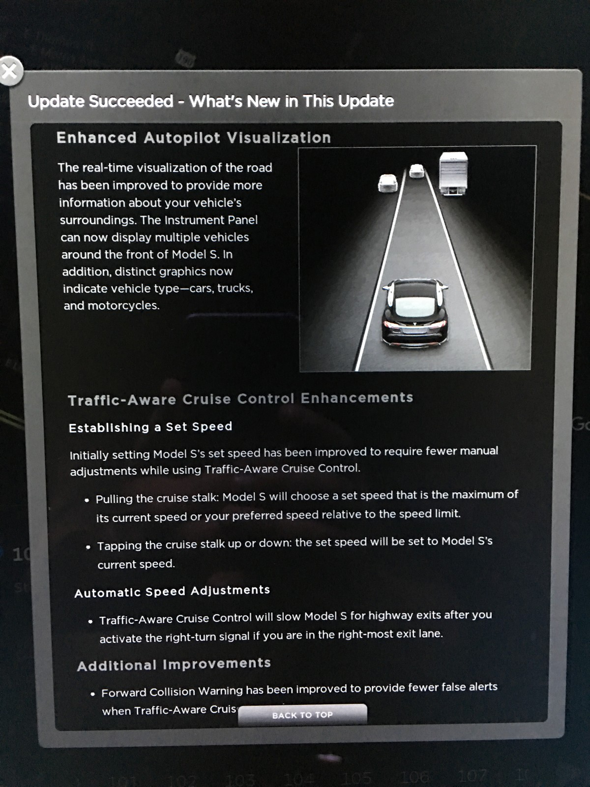 Tesla v7.1 enhanced Autopilot visualization