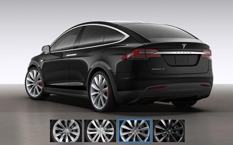 Black-Tesla-Model-X-22in-Silver-Turbine-Wheels-Side