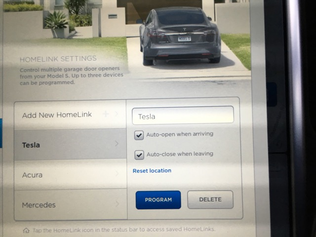 Tips On How To Program Tesla HomeLink To Work On A Car Garage - Acura home link