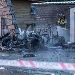 Tesla-Model-S-Fire-Wreckage-Firefighter-Norway