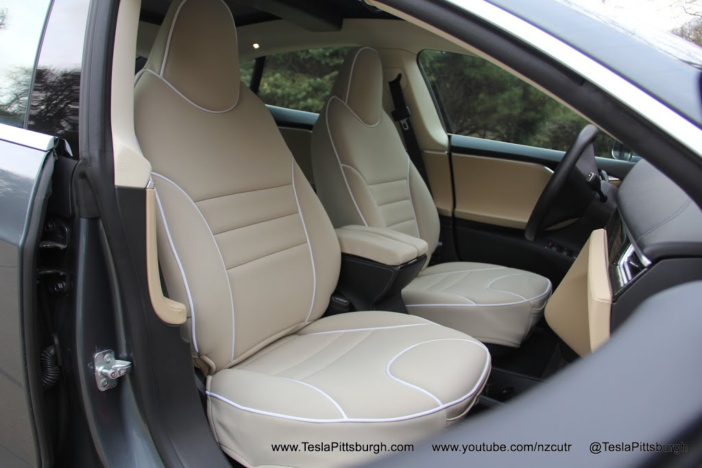 model s front seat covers review outerwear for your inner tesla. Black Bedroom Furniture Sets. Home Design Ideas