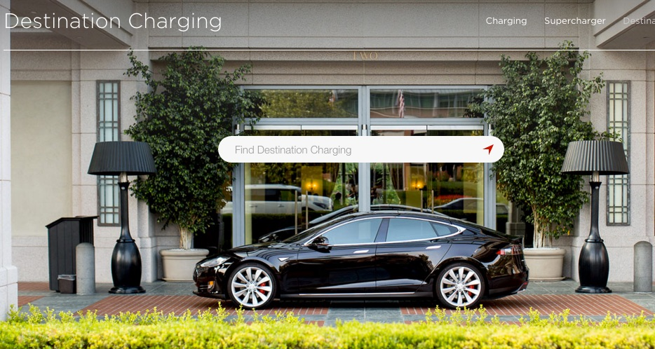 Tesla destination chargers