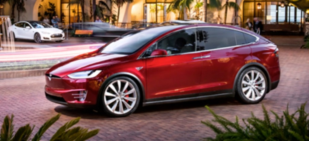 """Tesla """"Signature Red"""" Model X in China"""