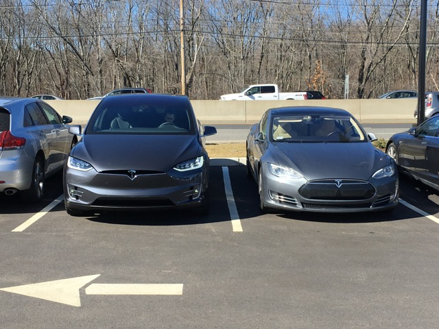 The Model X I test drove next to my Model S.