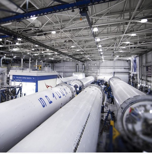 SpaceX rockets under cosntruction via Intsagram