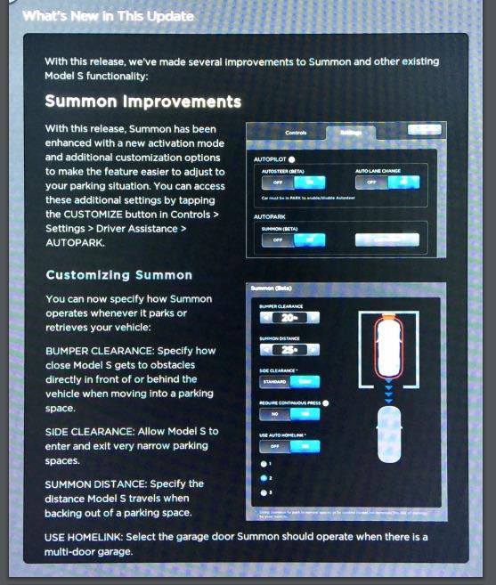 Tesla 7.1 New Summon Improvements