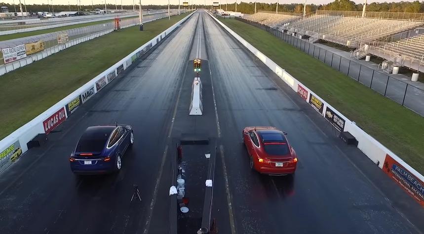 Tesla Model X Drag Race