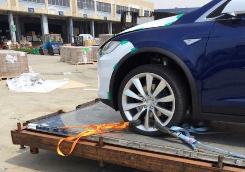 Tesla Model X Beijing Airport