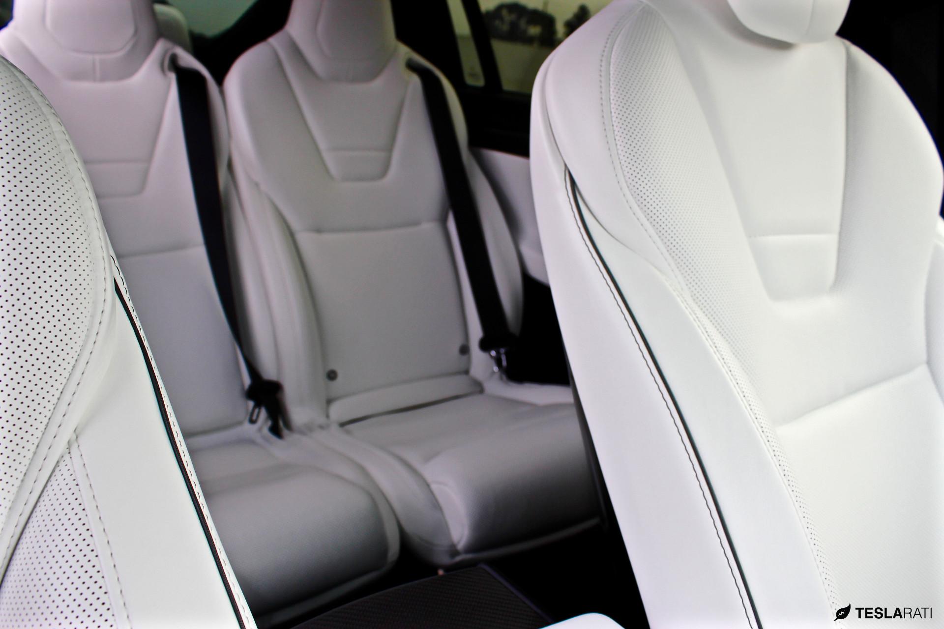 Model X Ultra White Seat Pinstripe