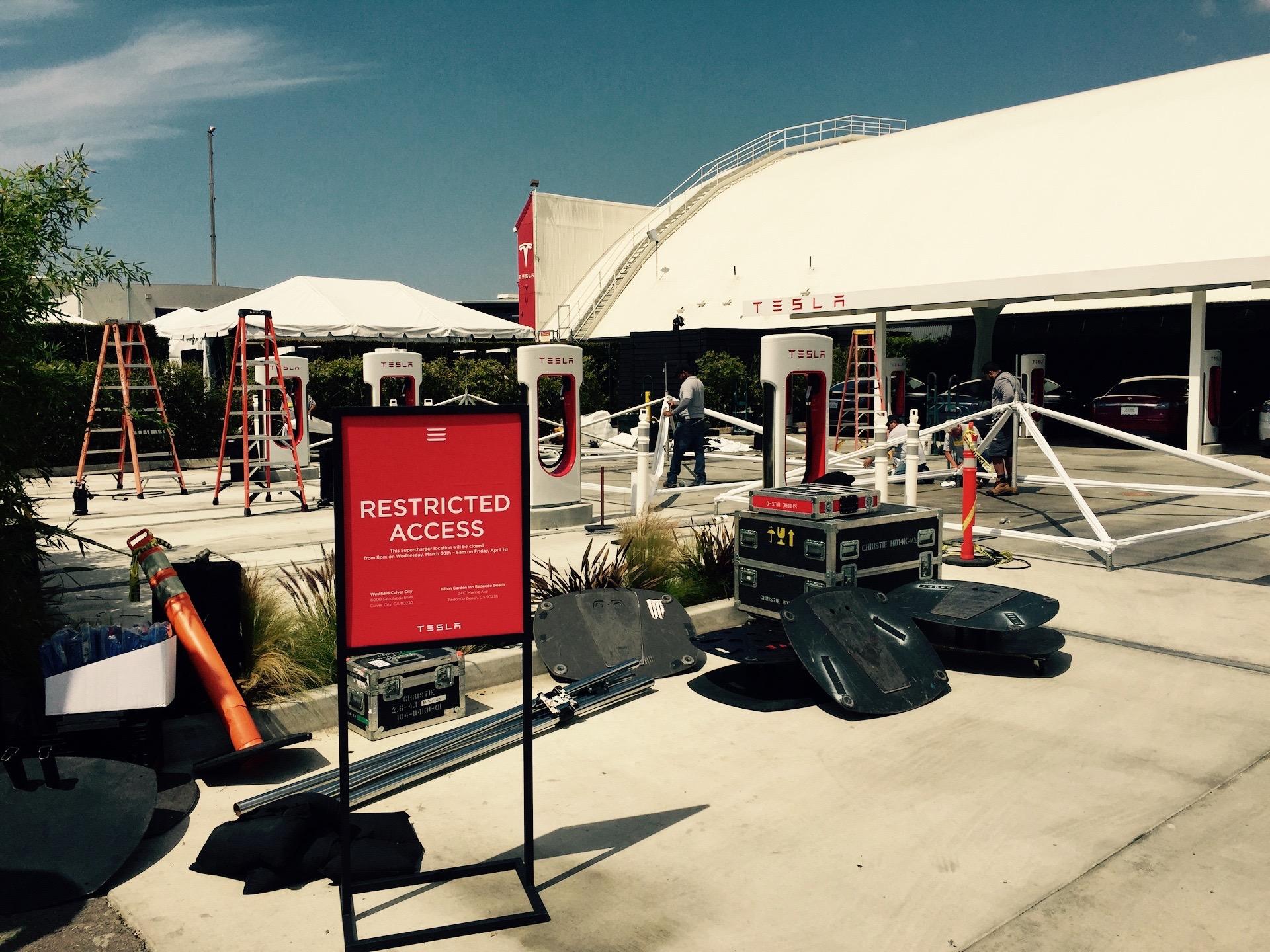 Tesla Model 3 Event Preparation [Source: EVannex]