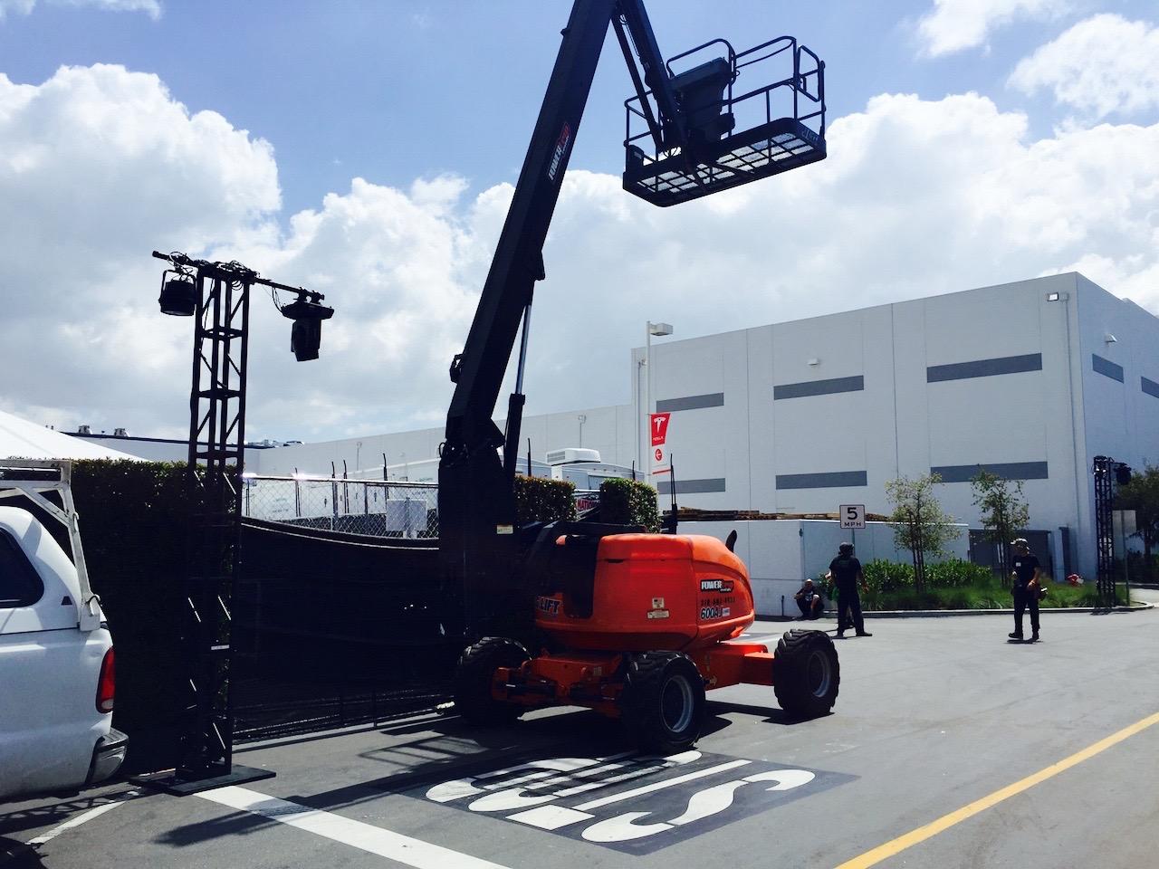 Tesla Model 3 Event Preparations