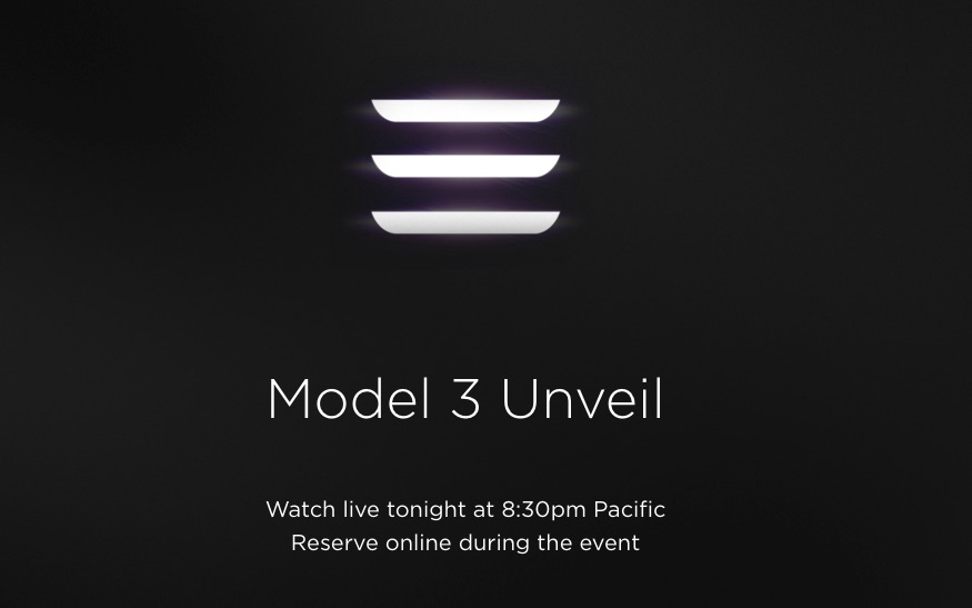 Updated Tesla Will Livestream The Model 3 Event On March 31st