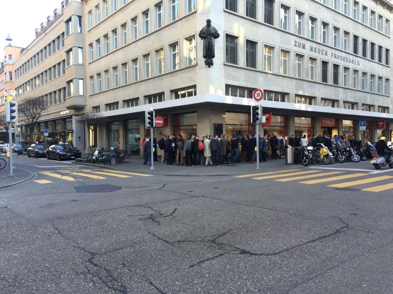 Model 3 line in Zurich