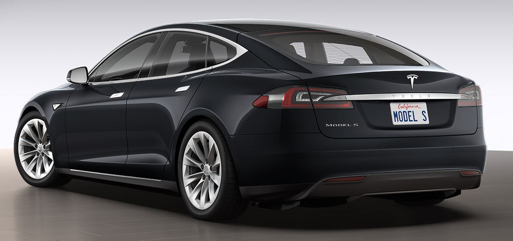 "Tesla 19"" Slipstream Wheels on Black Model S"