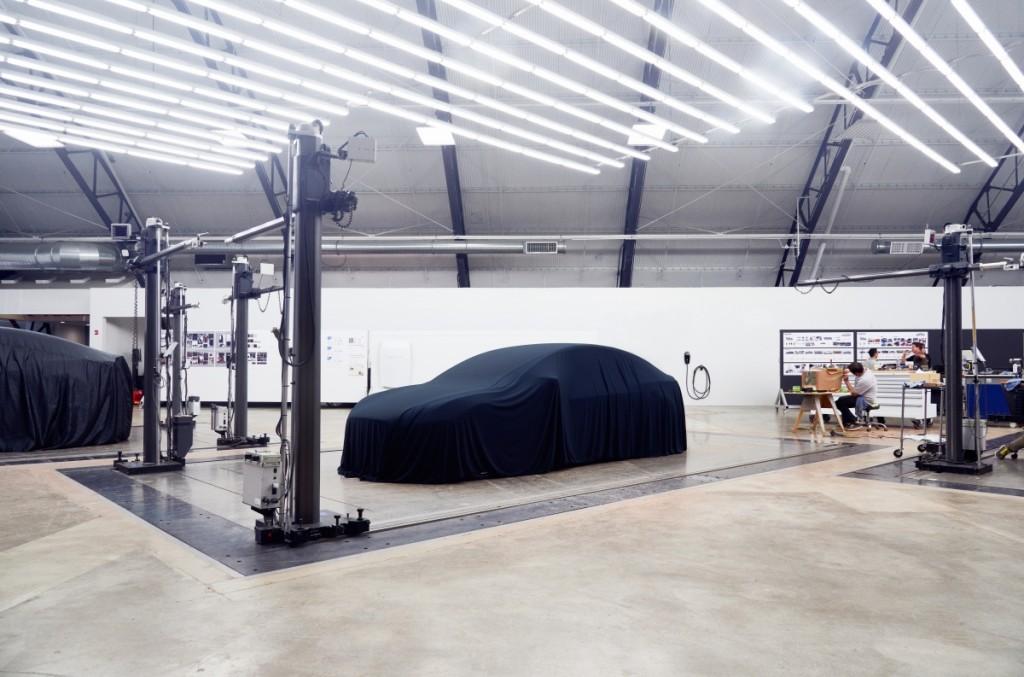 Covered Tesla Model 3