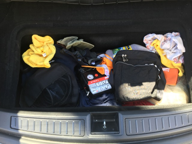 Cluttered Footwell