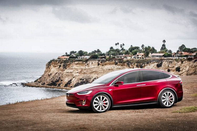 Model X in Red via Tesla  Motors