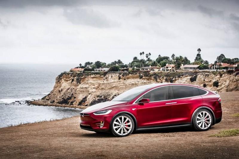 Model X in red