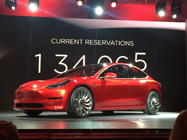 Red-Tesla-Model-3-Event-Stage