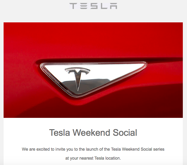 Tesla Weekend Social Invitation