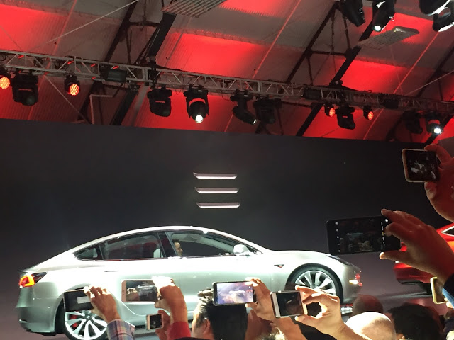 Silver-Tesla-Model-3-Event-Stage