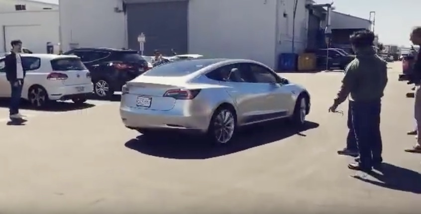 Silver-Tesla-Model-3-Spotted-SpaceX