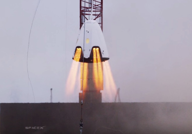 Video of Dragon 2 hover test from SpaceX