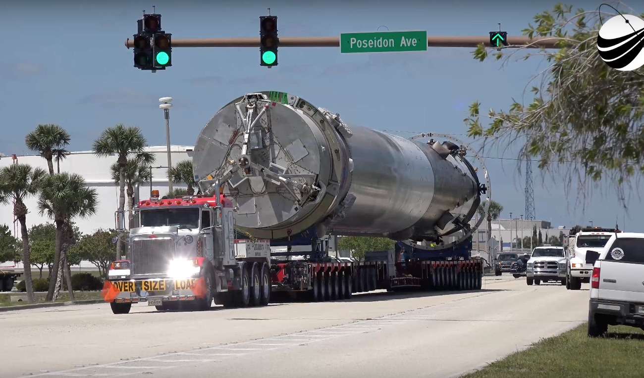 Image result for falcon 9 on truck