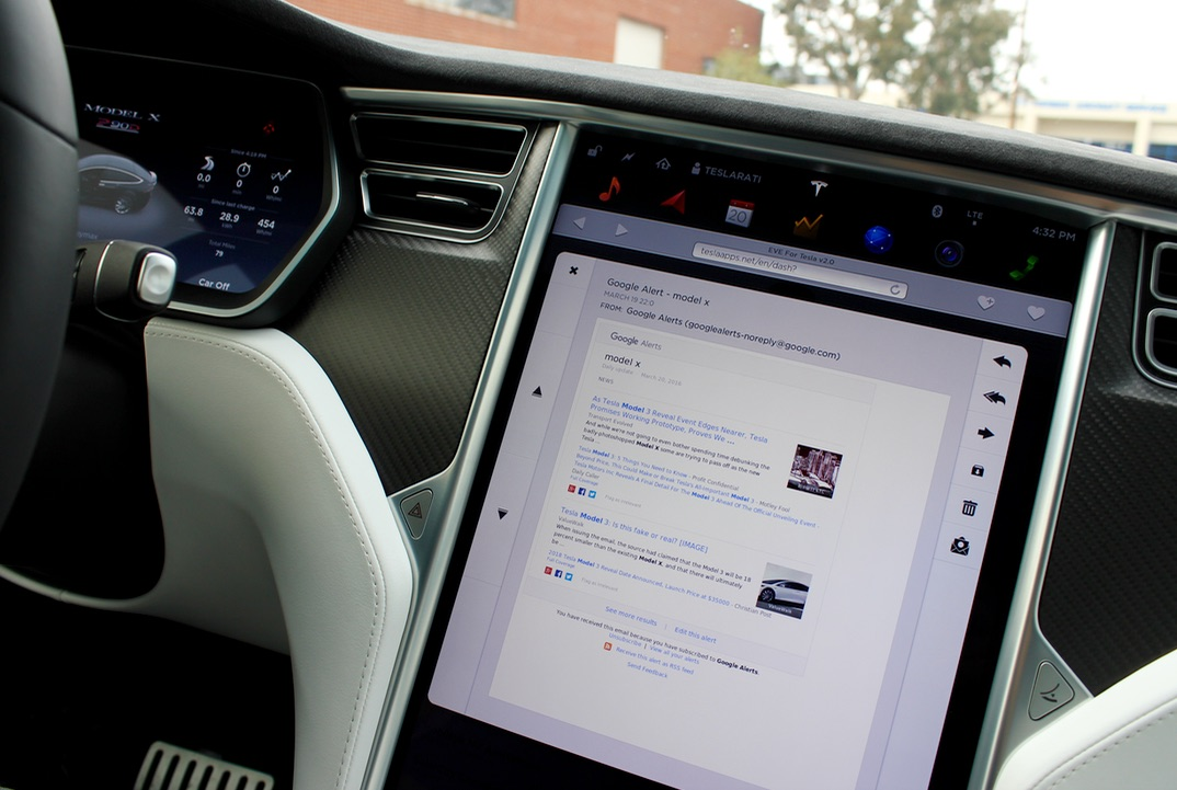 EVE for Tesla with IMAP mail capabilities