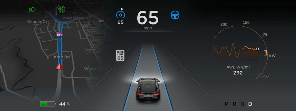 Tesla Autopilot screen