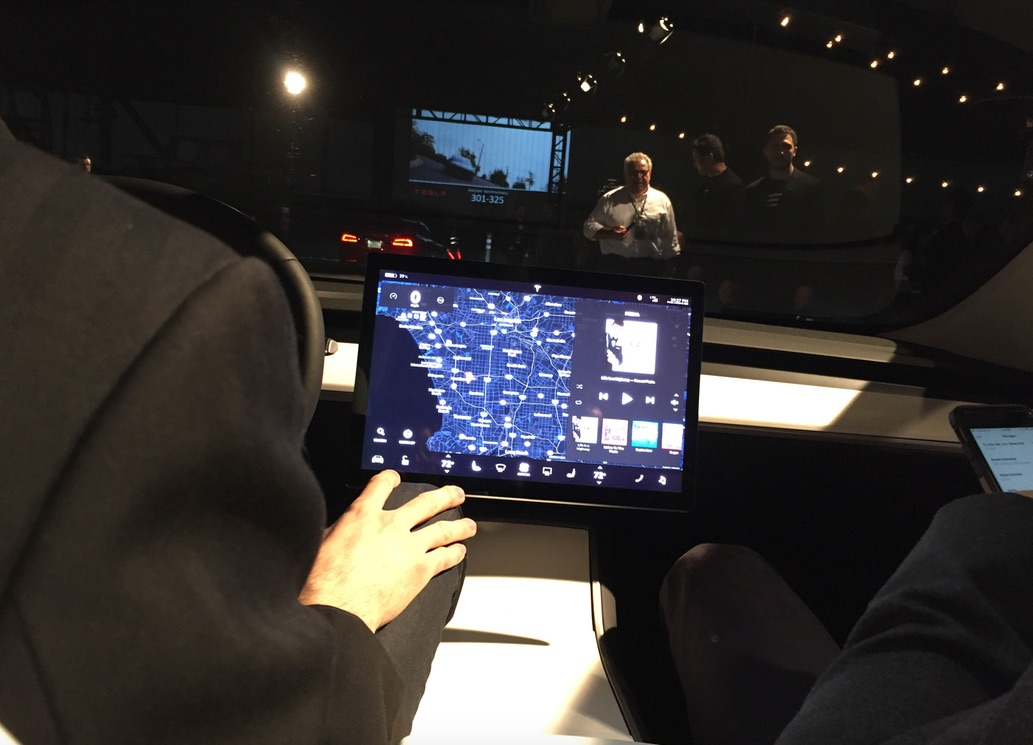 "Tesla Model 3 15"" center touchscreen"