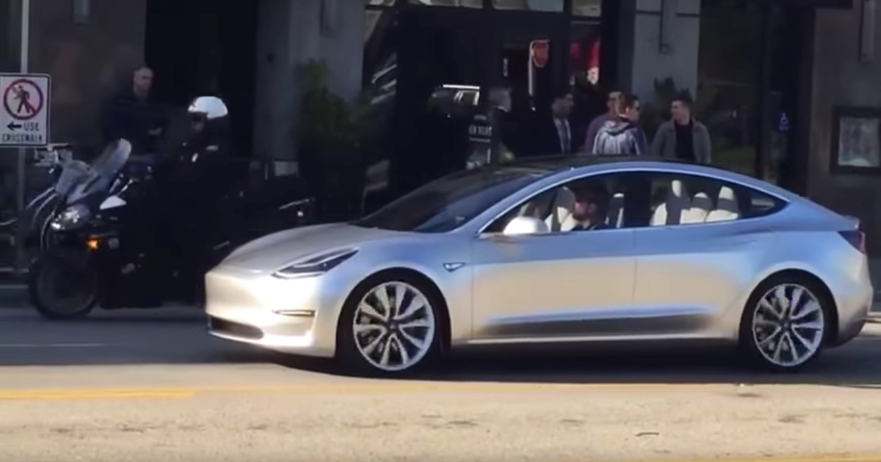 Tesla Model 3 Spotted at Marina Del Rey, CA on April 2, 2016