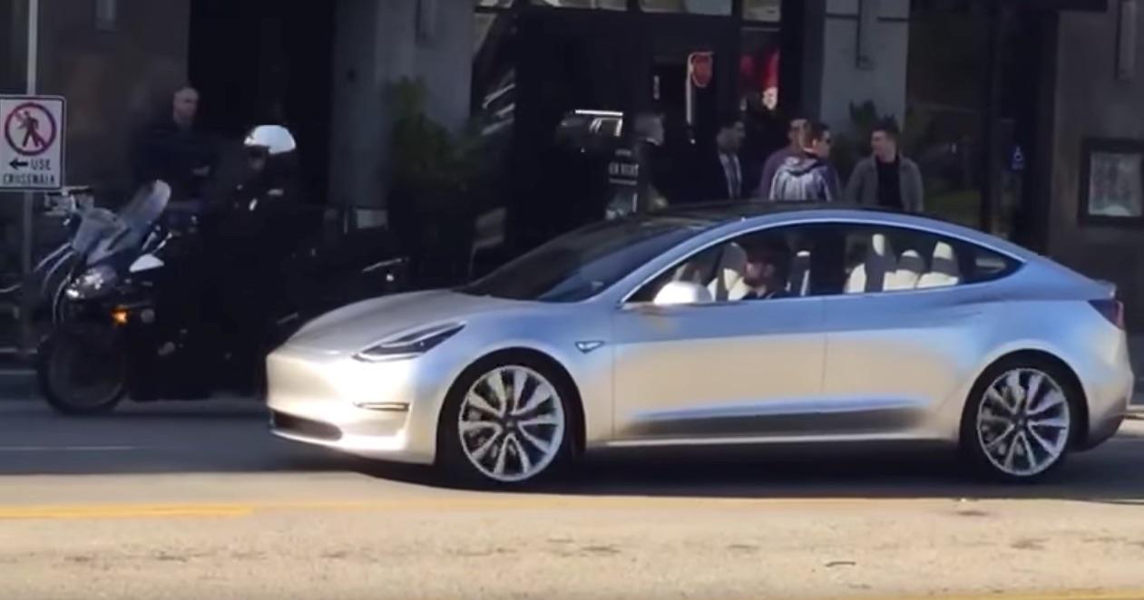 Tesla Model 3 Spotted at Marina Del Rey, CA on April 2, 2016