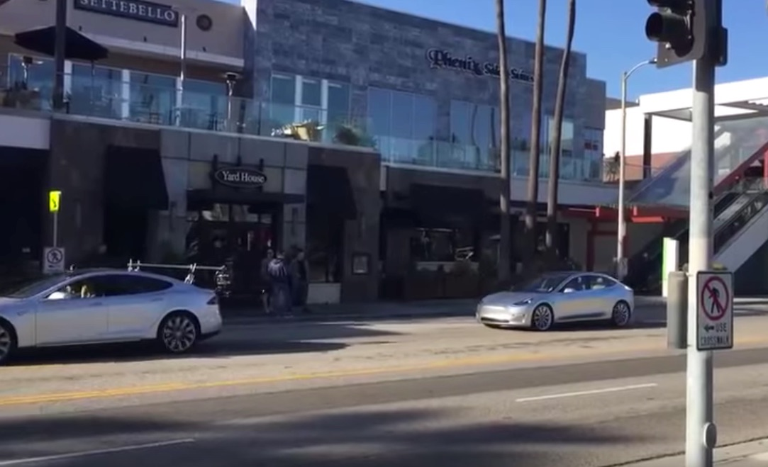 Tesla Model 3 Sighting in Marina Del Rey, CA on April 2, 2016