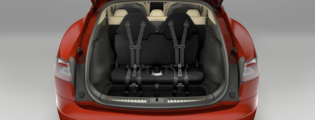 Tesla Model S rear child seats