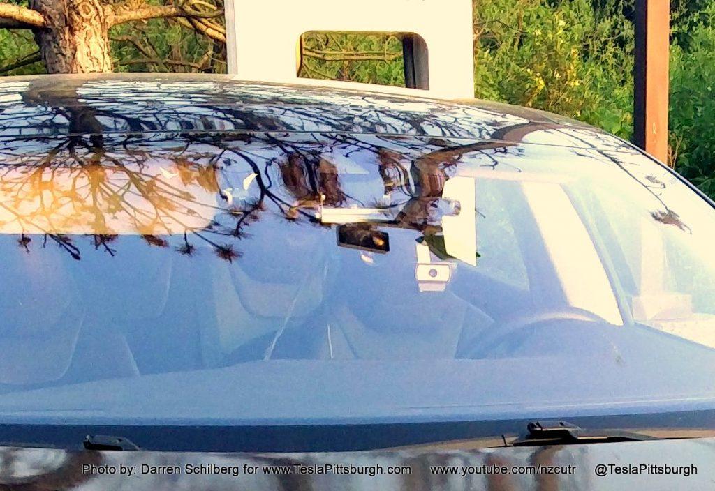 Tesla Model S mule with Autopilot 2.0 cameras