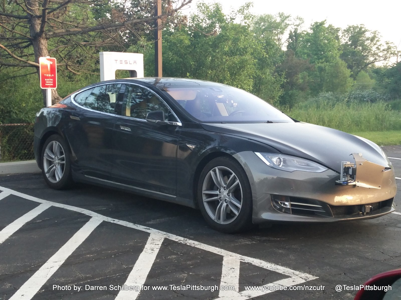 Tesla Model S Mule With Autopilot 2 0 Sensors