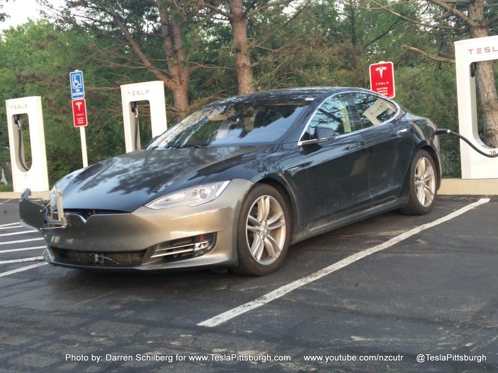 Tesla Model S mule with Autopilot 2.0 hardware