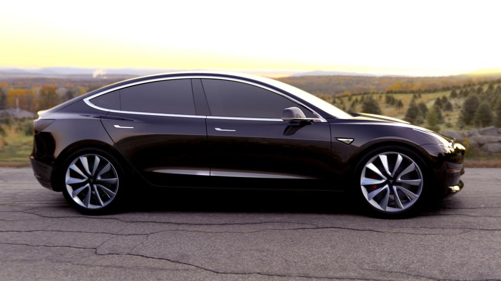 Black-Tesla-Model-3-Side-Sunset
