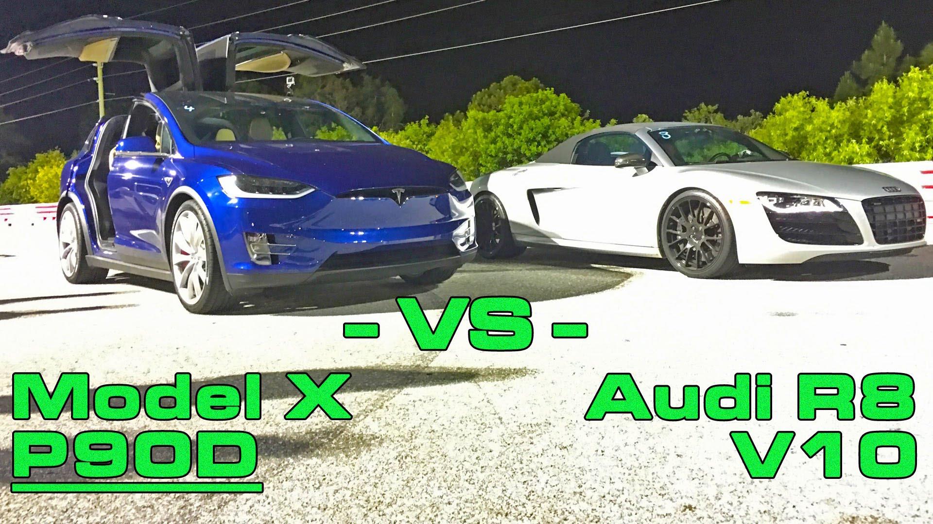 Blue-Model-X-vs-Audi-R8-Drag-Race