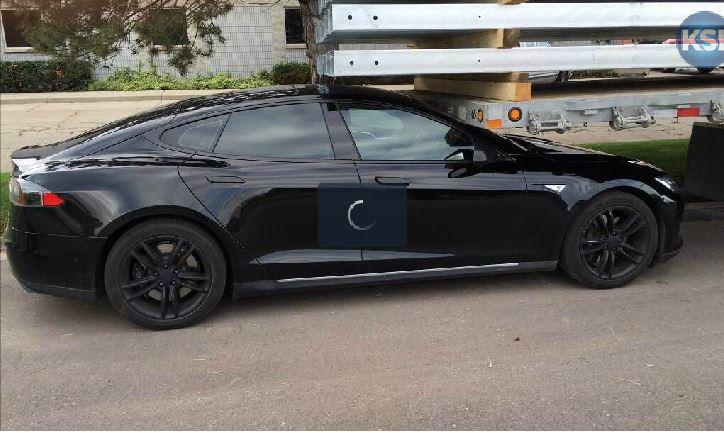 Tesla Model S after crash