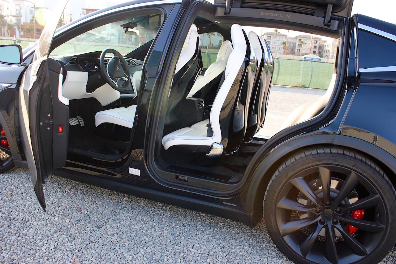 Tesla Model X 2nd row seats fully inclined