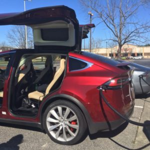 First Model X we saw in the wild at Lumberton, NC Supercharger