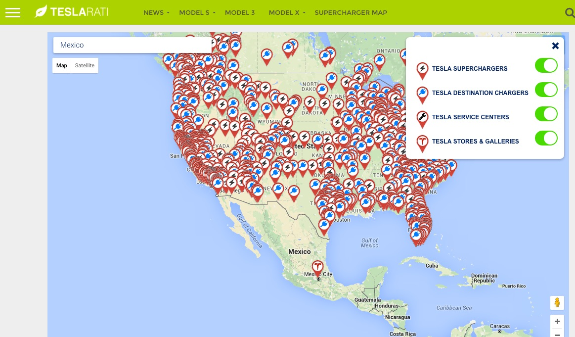Teslas Up ing Supercharger Mexico Revealed Qr Code on tesla supercharger locations map