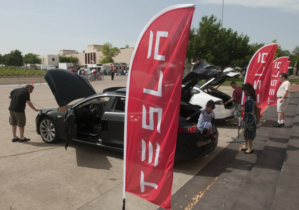 Teslas in Texas via Dallas Morning News