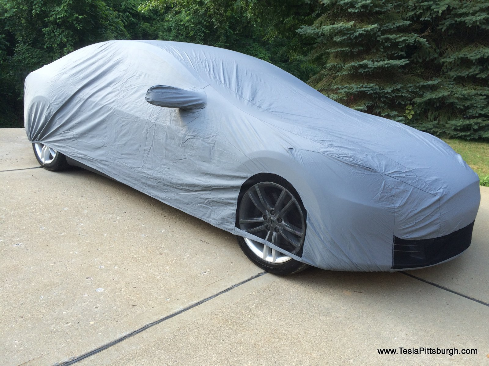 Tesla Model S car cover with mesh airflow